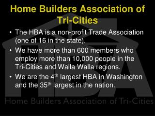 Home Builders Association of Tri-Cities