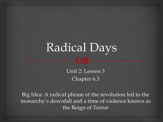 Radical Days