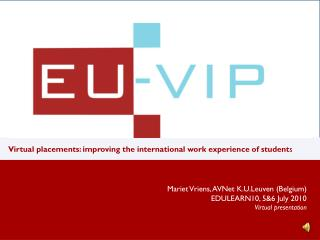 Virtual placements: improving the international work experience of student s