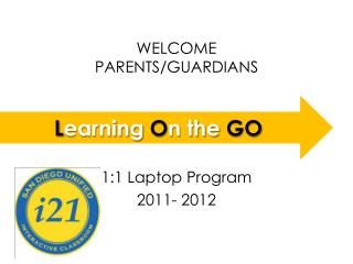 WELCOME  PARENTS/GUARDIANS