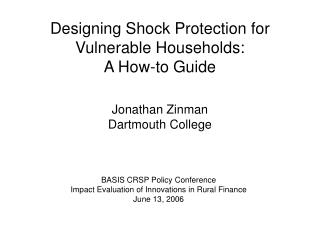 Designing Shock Protection for Vulnerable Households: A How-to Guide