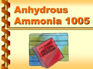 Anhydrous Ammonia 1005