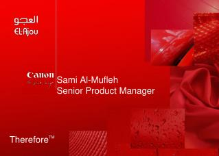 Sami Al-Mufleh Senior Product Manager