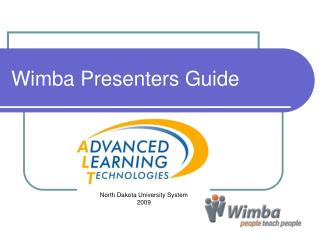 Wimba Presenters Guide