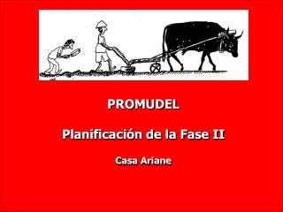 PROMUDEL Planificaci�n de la Fase II Casa Ariane