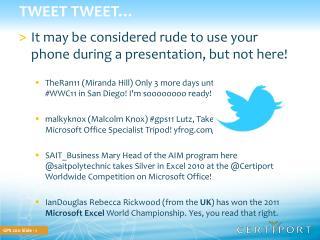 Tweet Tweet�