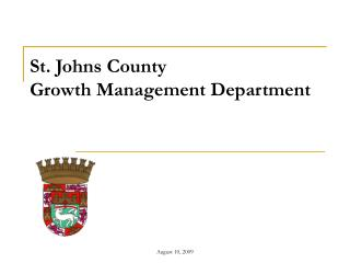 St. Johns County  Growth Management Department