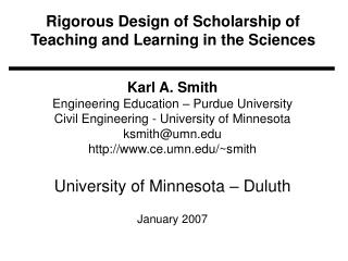 Rigorous Design of Scholarship of Teaching and Learning in the Sciences