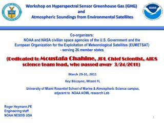Workshop on  Hyperspectral  Sensor Greenhouse Gas (GHG) and