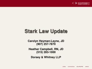 Stark Law Update