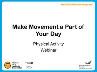 Make Movement a Part of Your Day