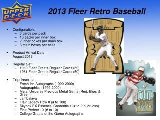 2013 Fleer Retro Baseball