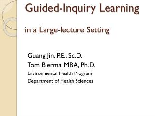 Guided-Inquiry Learning in a Large-lecture Setting