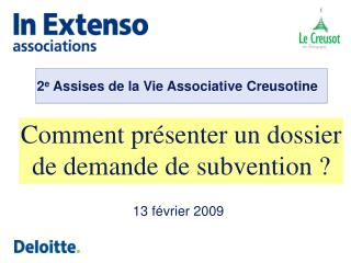 Comment pr senter un dossier de demande de subvention