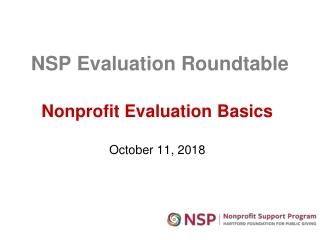 Evaluation Basics
