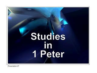Studies in 1 Peter