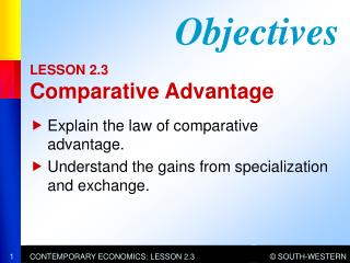 LESSON 2.3 Comparative Advantage