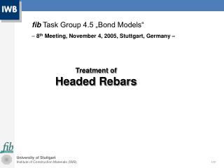 Treatment of Headed Rebars