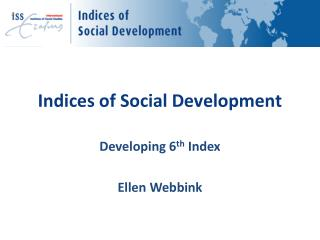 Indices of Social Development