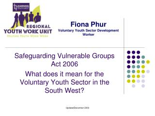 Fiona Phur Voluntary Youth Sector Development Worker