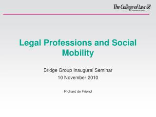 Legal Professions and Social Mobility
