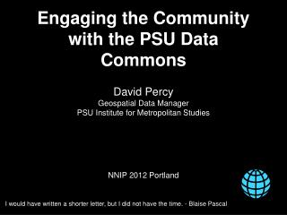 Engaging the Community with the PSU Data Commons