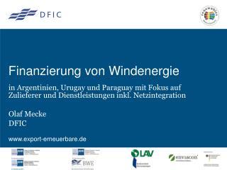 Finanzierung von Windenergie