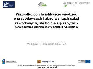 Warszawa, 11 października 2012 r.