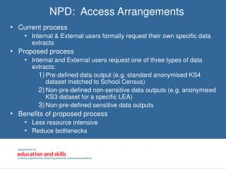 NPD:  Access Arrangements