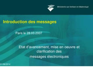 Introduction des messages