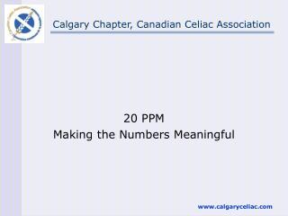 Calgary Chapter, Canadian Celiac Association