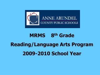 MRMS    8th Grade Reading