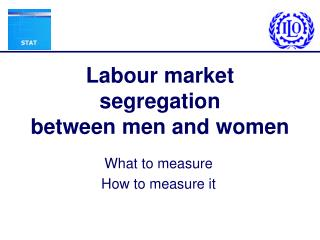 Labour market segregation between men and women