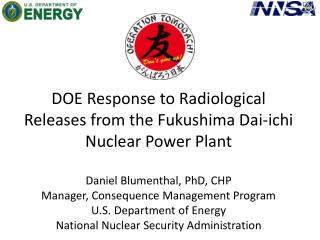 Fukushima Dai-ichi Damage & Deposition (DOE AMS Perspective)