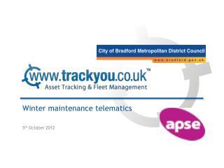 Winter maintenance telematics