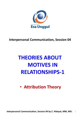 THEORIES ABOUT MOTIVES IN RELATIONSHIPS-1