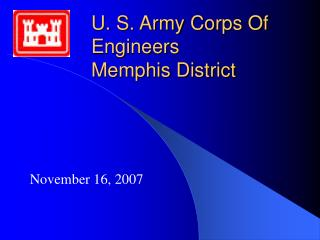 U. S. Army Corps Of Engineers Memphis District