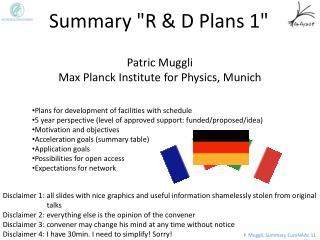 """Summary """"R & D Plans 1"""""""