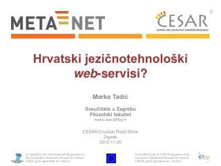 Hrvatski jezi?notehnolo�ki web -servisi?