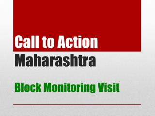 Call to Action  Maharashtra