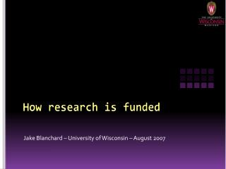 How research is funded