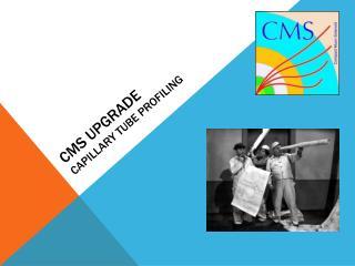 CMS Upgrade Capillary  T ube  P rofiling