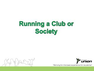 Running a  Club or Society