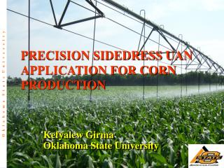 PRECISION SIDEDRESS UAN APPLICATION FOR CORN PRODUCTION