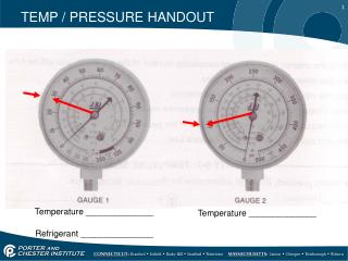 TEMP / PRESSURE HANDOUT
