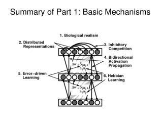 Summary of Part 1: Basic Mechanisms