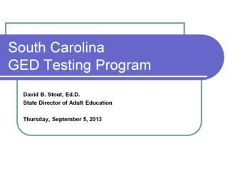 South Carolina GED Testing Program