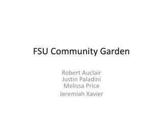 FSU Community Garden