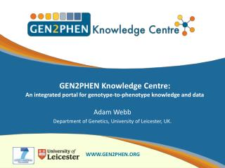GEN2PHEN Knowledge Centre: an integrated portal for genotype‐to‐phenotype knowledge and data