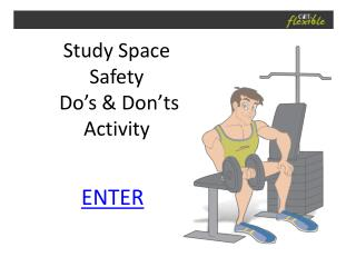 Study Space Safety  Do's & Don'ts Activity
